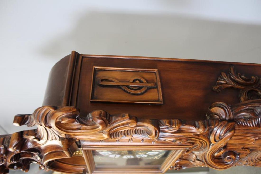 Italian Rococo Carved Wood Tallcase Clock - 6