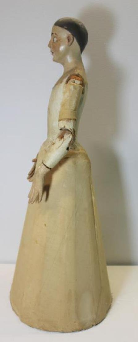 Antique Carved Wood and Painted Santos Cage Doll - 10