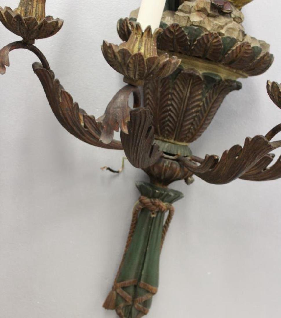 Magnificent Pair of Carved Wood Palm Tree Form - 4