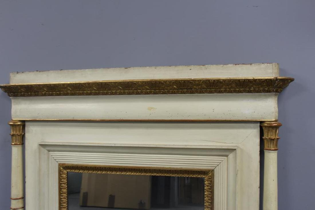 19th Century Paint and Gilt Decorated Over Mantel. - 3