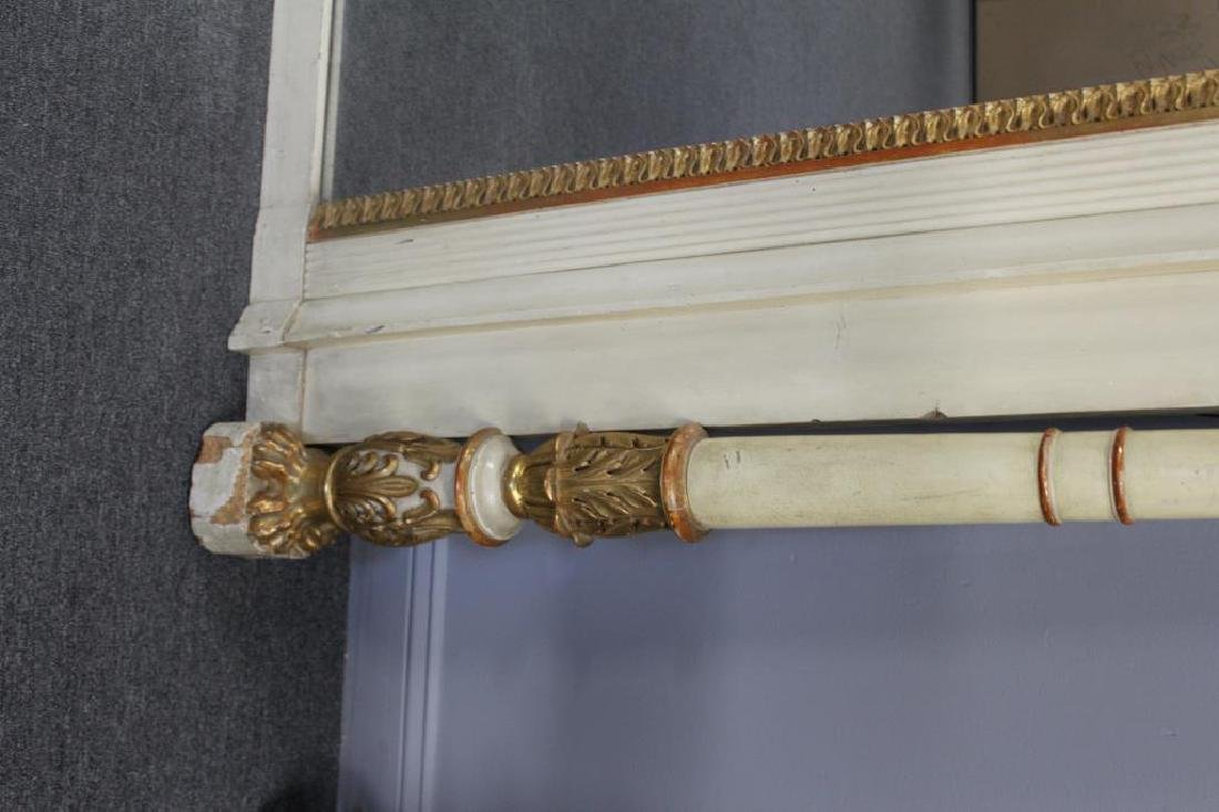 19th Century Paint and Gilt Decorated Over Mantel. - 4