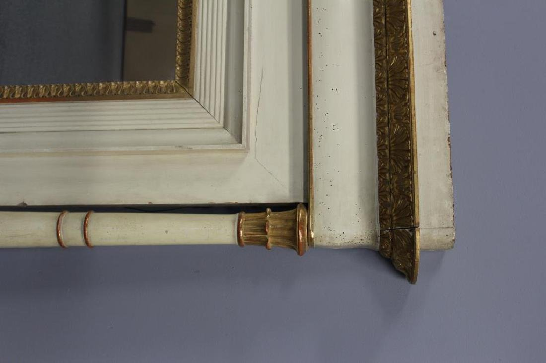 19th Century Paint and Gilt Decorated Over Mantel. - 5