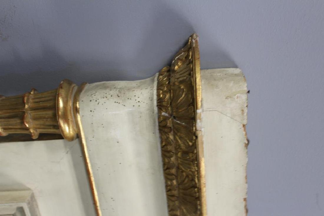 19th Century Paint and Gilt Decorated Over Mantel. - 6