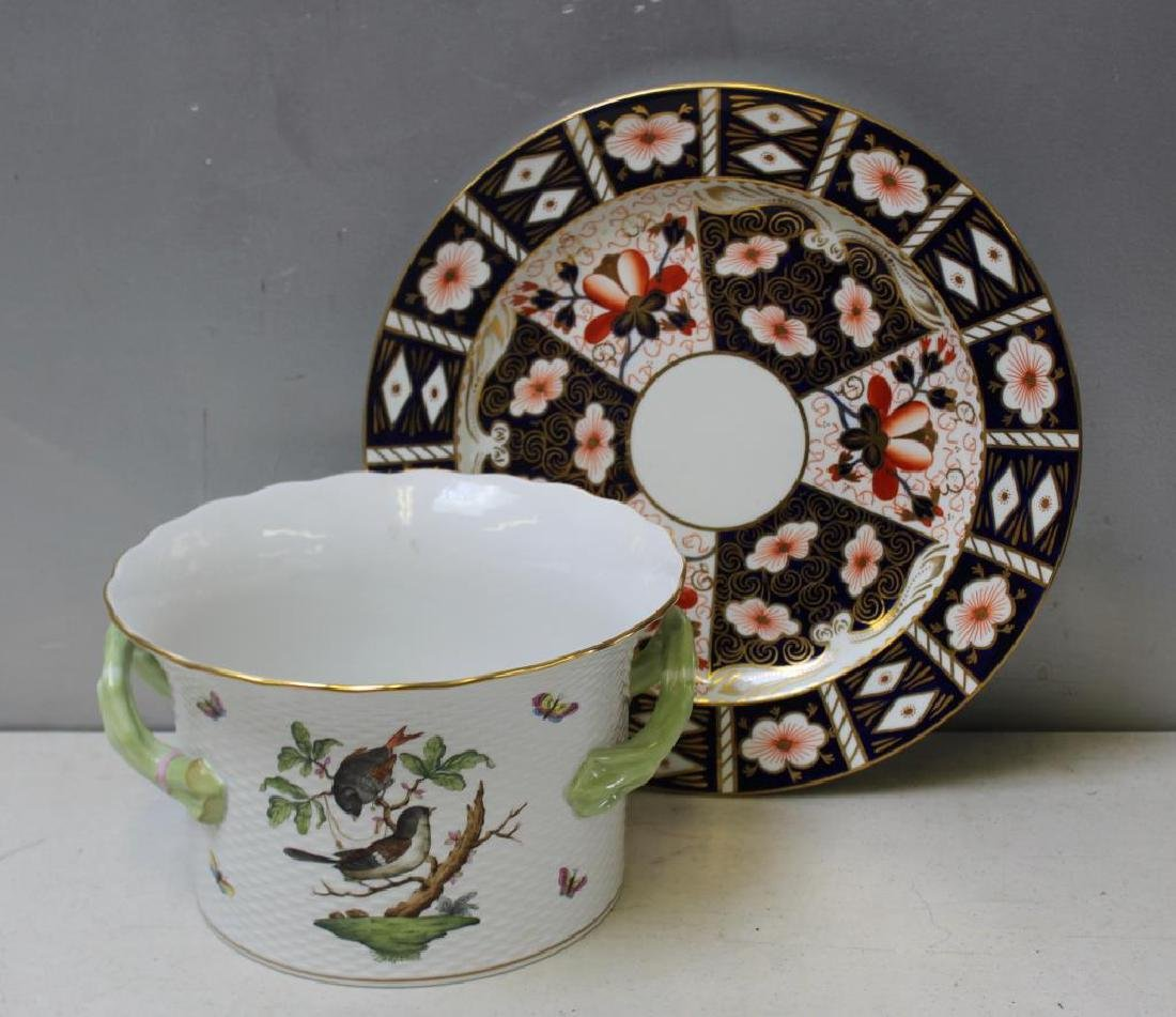 Herend Porcelain Handled Container and