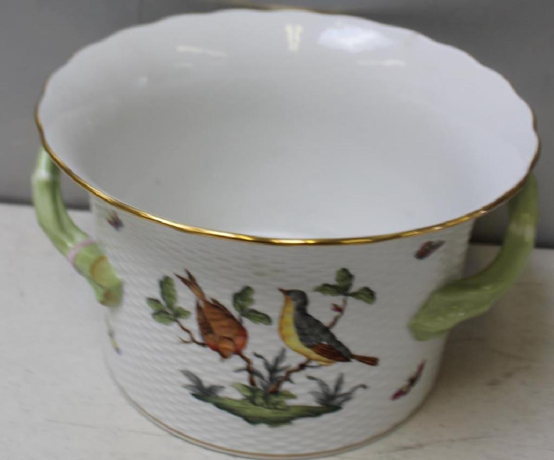 Herend Porcelain Handled Container and - 5