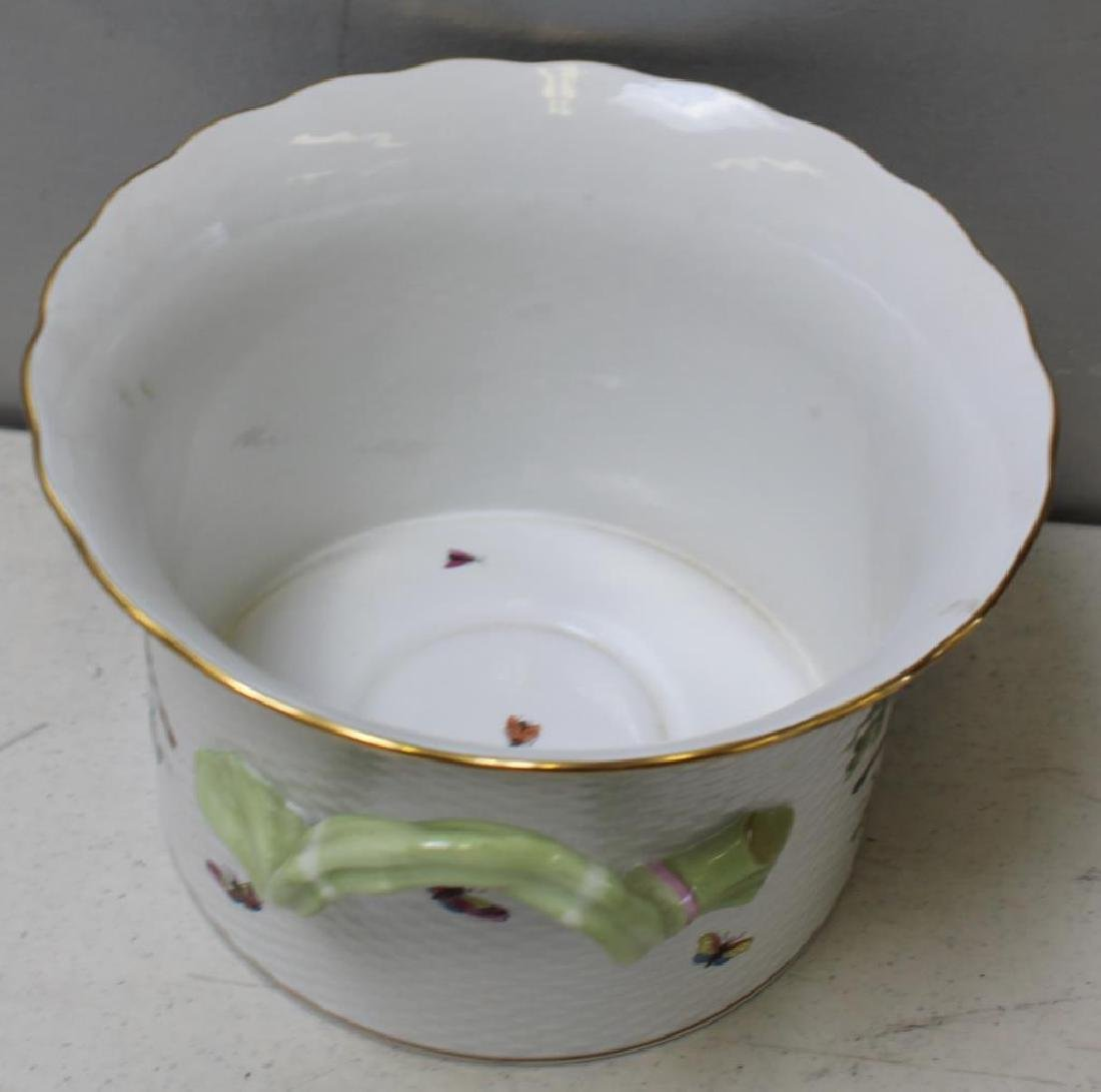 Herend Porcelain Handled Container and - 6