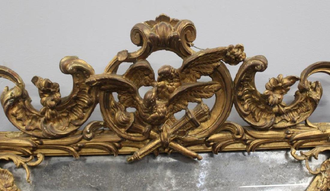 19 Century Carved Giltwood and Gessoe Mirror. - 3