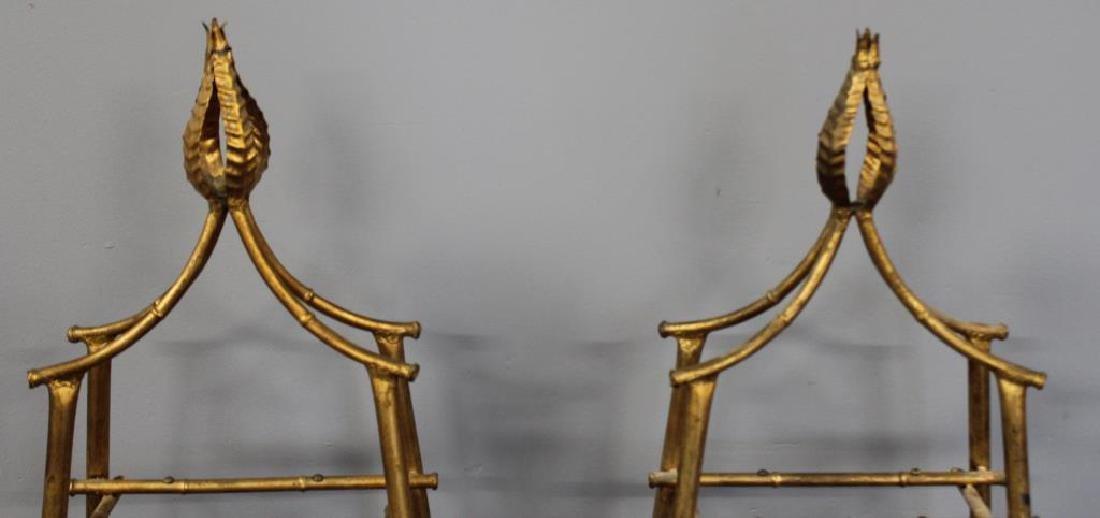 A Pair Of Gilt Metal Pyramid Form Etageres. - 4