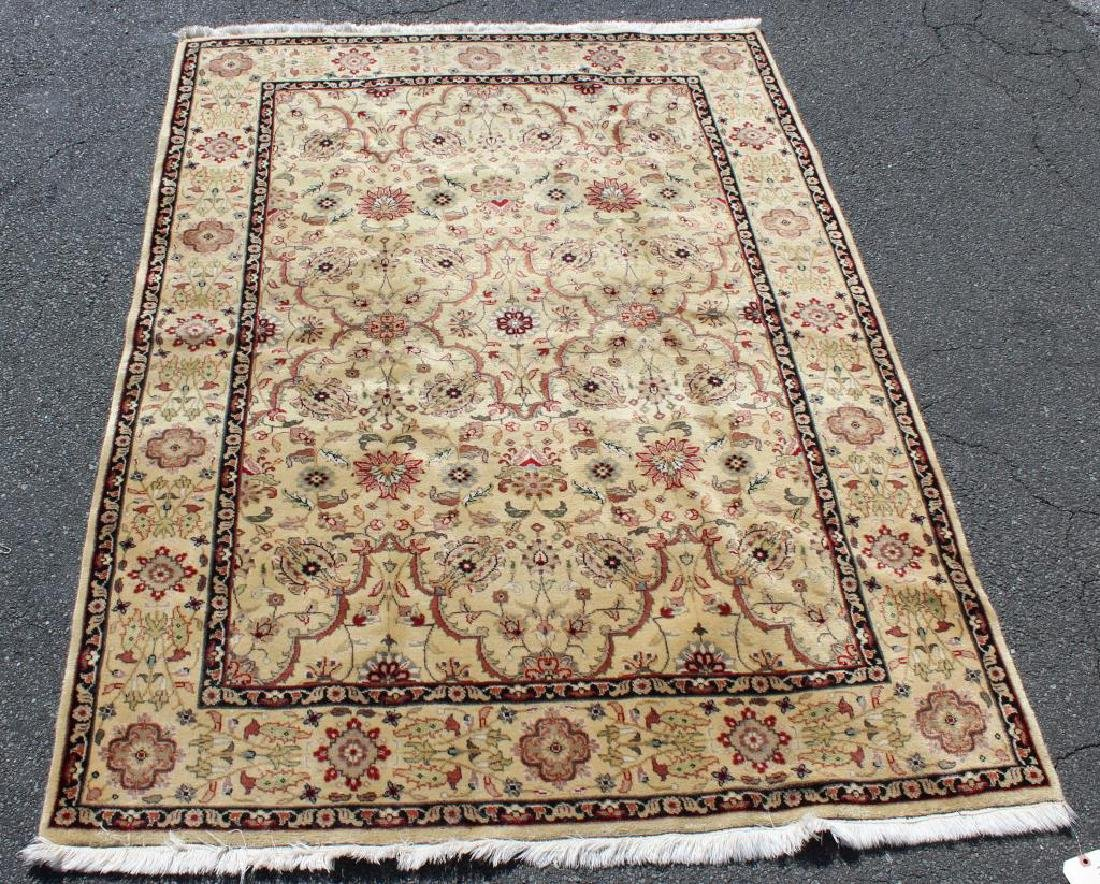 Vintage and Finely Woven Handmade Area Carpet.