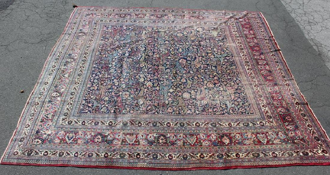 Antique and Finely Woven Roomsize Mashad Carpet