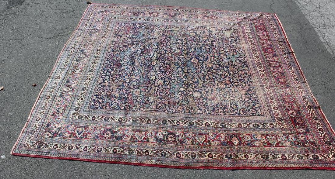Antique and Finely Woven Roomsize Mashad Carpet - 2