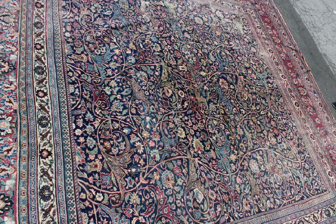 Antique and Finely Woven Roomsize Mashad Carpet - 4