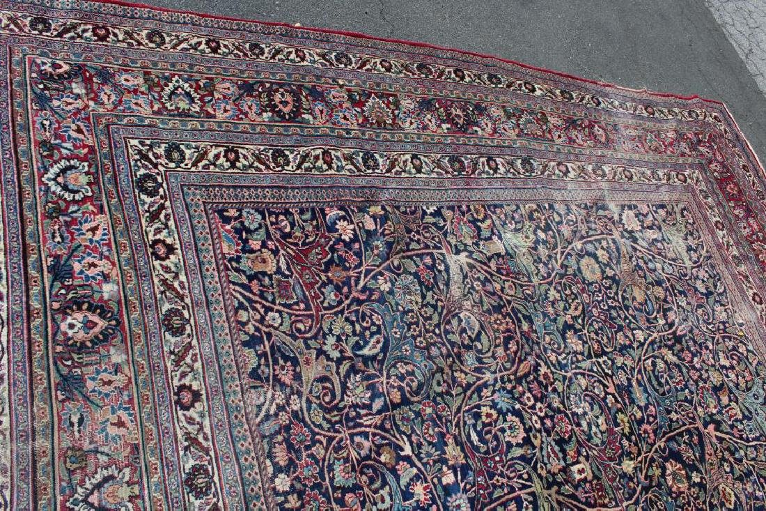 Antique and Finely Woven Roomsize Mashad Carpet - 5