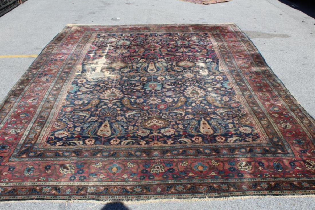 Antique and Finely Woven Handmade Carpet As / Is