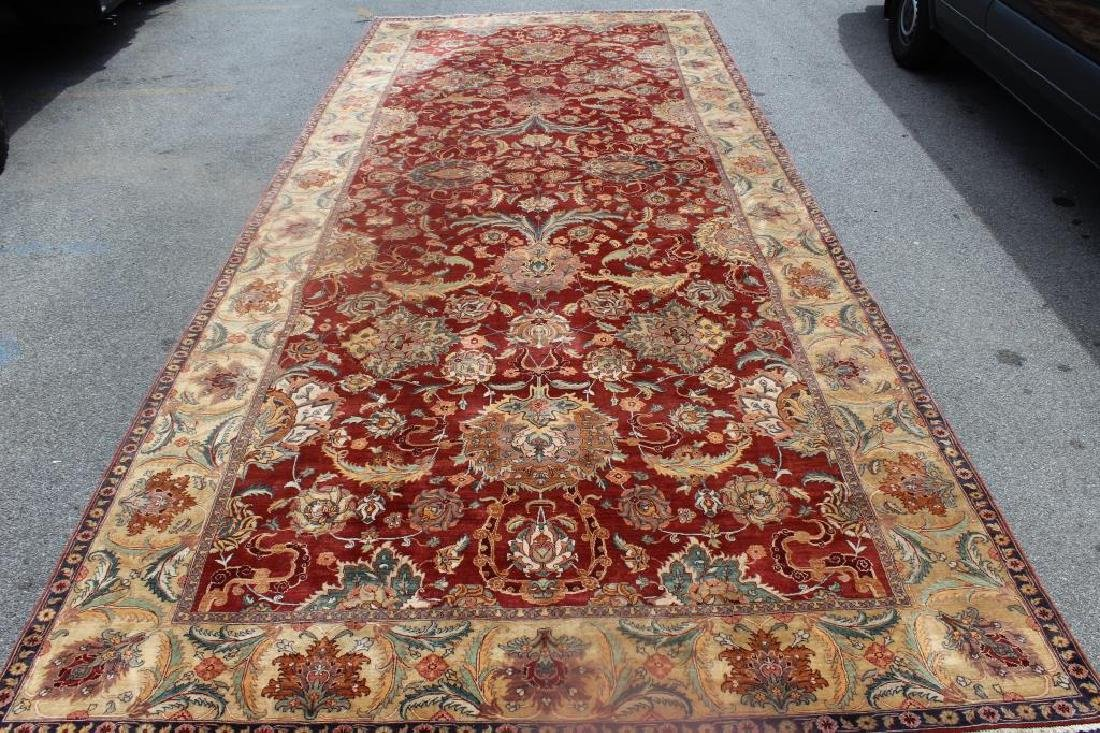 Large Antique and Finely Woven Handmade Carpet.