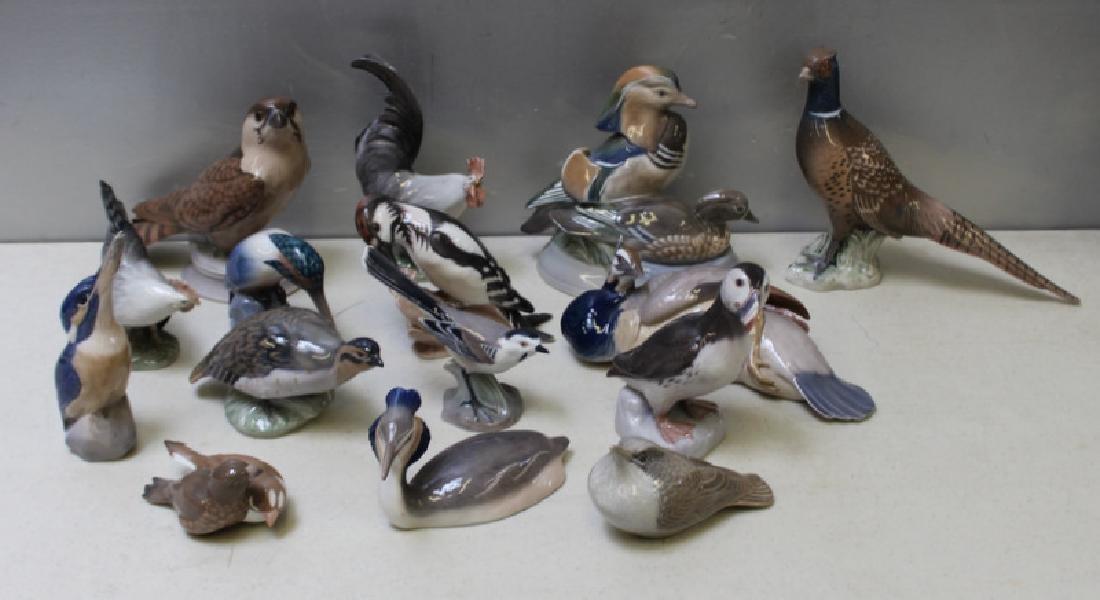 ROYAL COPENHAGEN. Lot of 15 Porcelain Figurines.