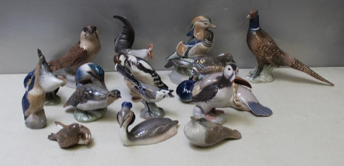 ROYAL COPENHAGEN. Lot of 15 Porcelain Figurines. - 2
