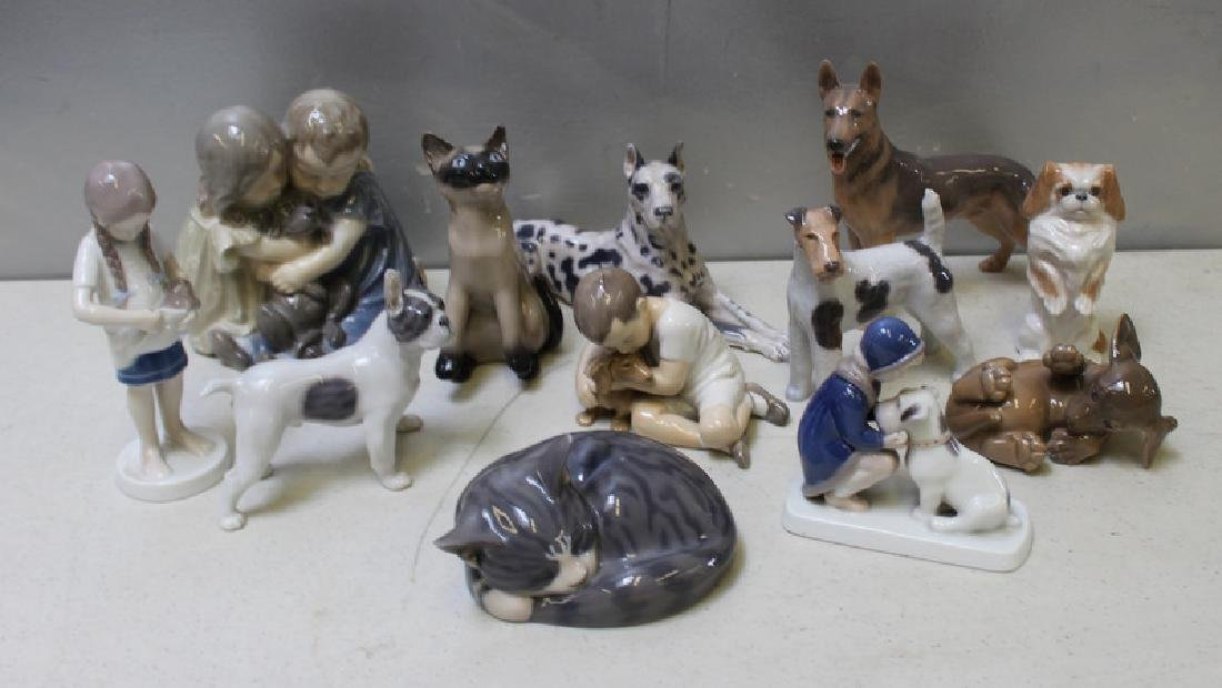ROYAL COPENHAGEN. Lot of 9 Porcelain Figurines. - 2