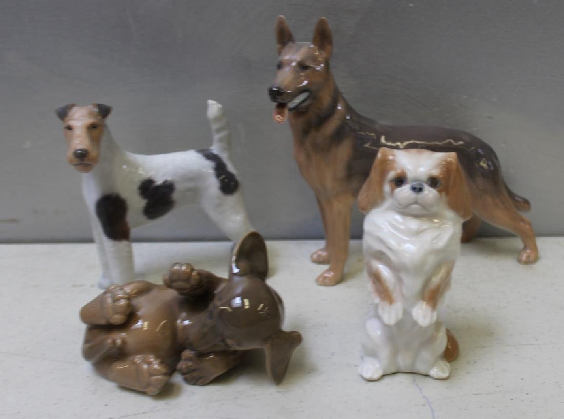 ROYAL COPENHAGEN. Lot of 9 Porcelain Figurines. - 4