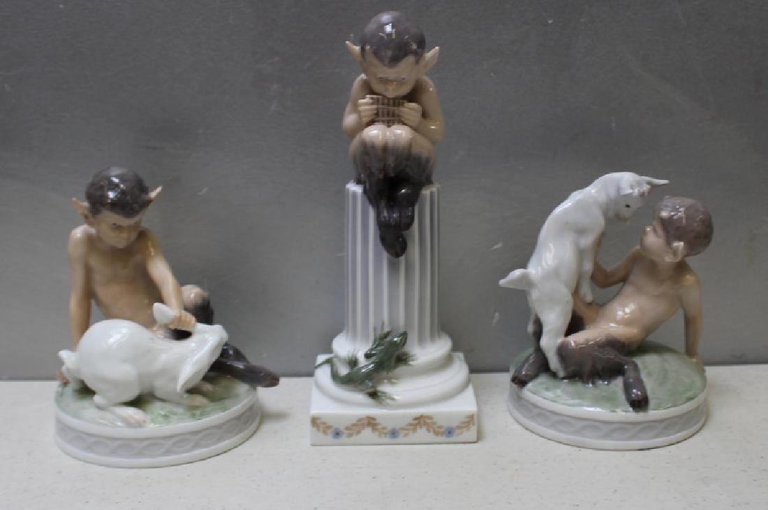 ROYAL COPENHAGEN. Lot of 8 Porcelain Figurines. - 3