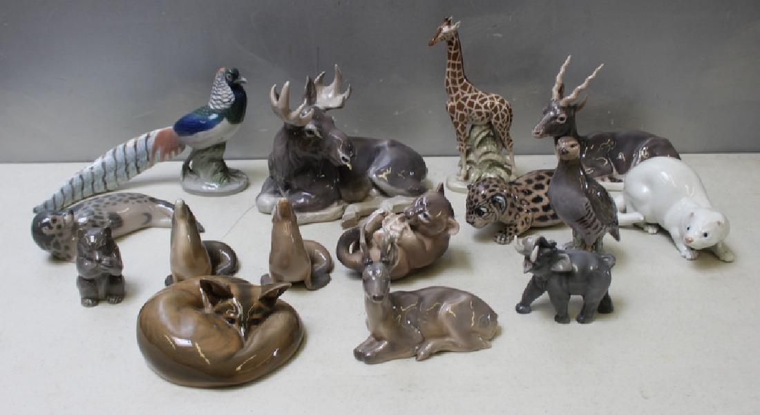 ROYAL COPENHAGEN. Lot of 12 Porcelain Figurines.