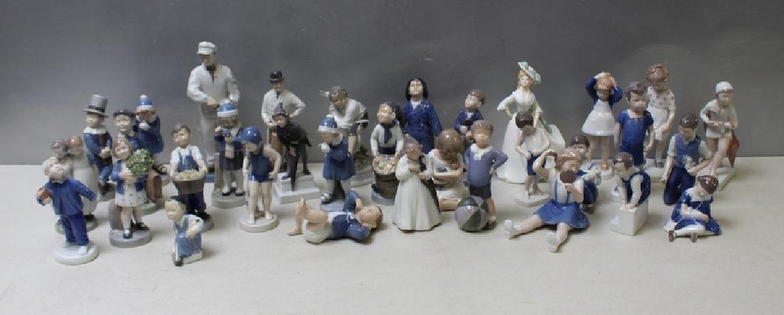 ROYAL COPENHAGEN. Lot of 22 Porcelain Figurines.