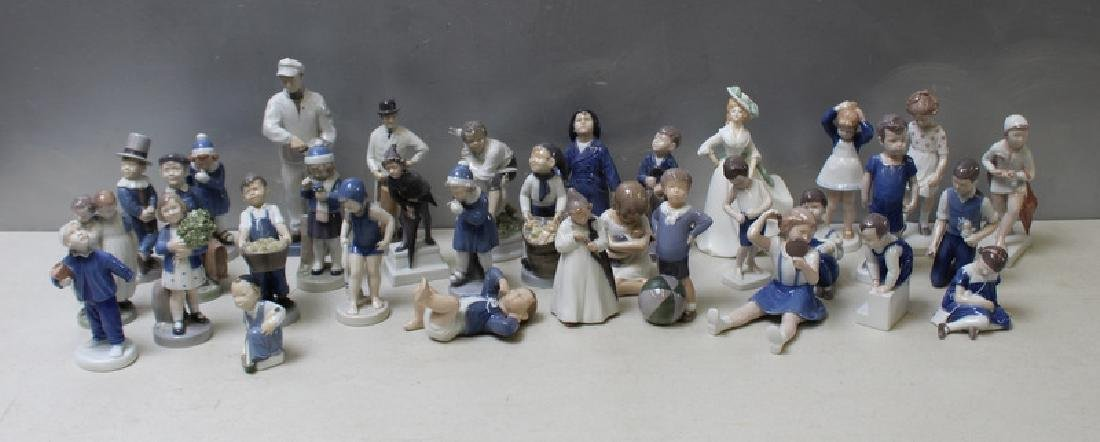 ROYAL COPENHAGEN. Lot of 22 Porcelain Figurines.