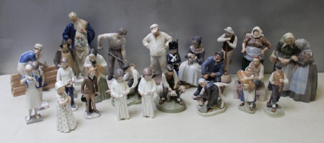ROYAL COPENHAGEN. Lot of 10 Porcelain Figurines.
