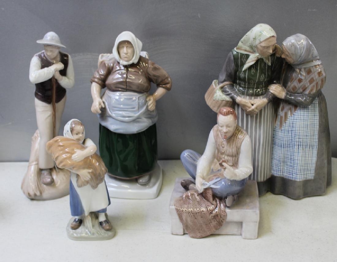 ROYAL COPENHAGEN. Lot of 10 Porcelain Figurines. - 4