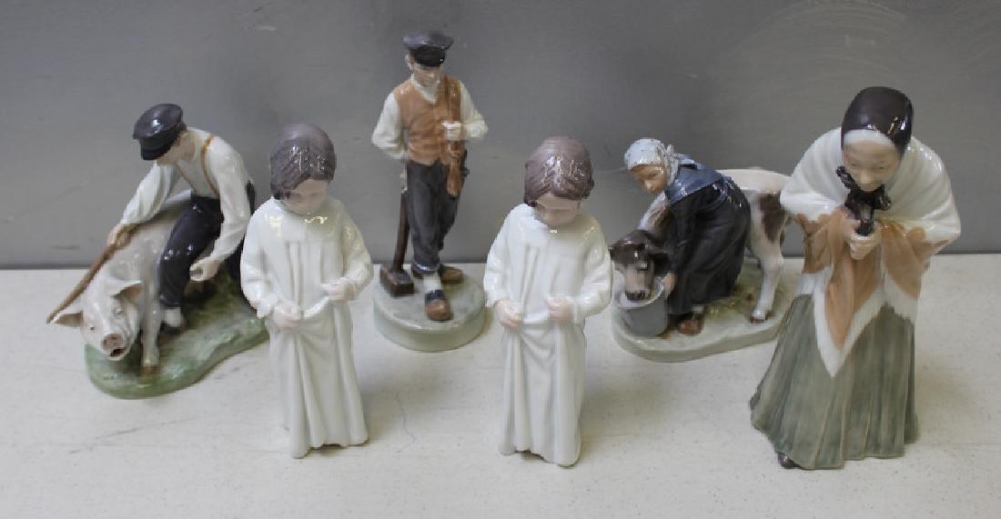 ROYAL COPENHAGEN. Lot of 10 Porcelain Figurines. - 7