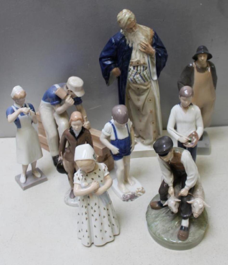 ROYAL COPENHAGEN. Lot of 10 Porcelain Figurines. - 8