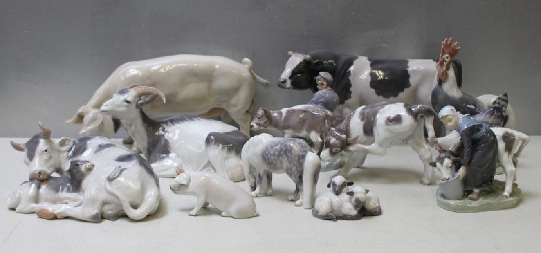 ROYAL COPENHAGEN. Lot of 11 Porcelain Animals. - 2