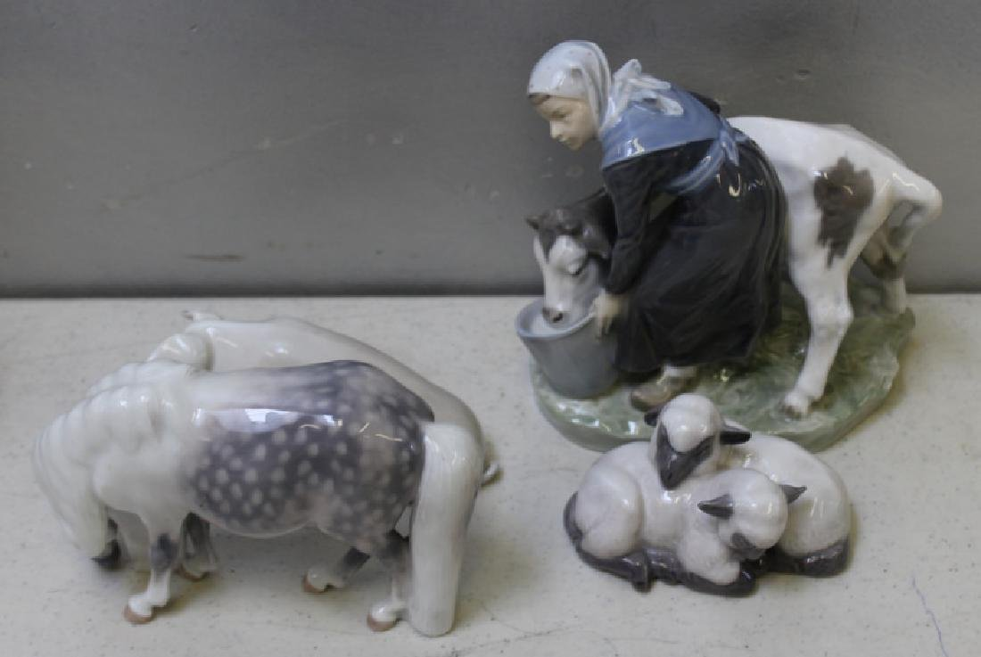 ROYAL COPENHAGEN. Lot of 11 Porcelain Animals. - 6