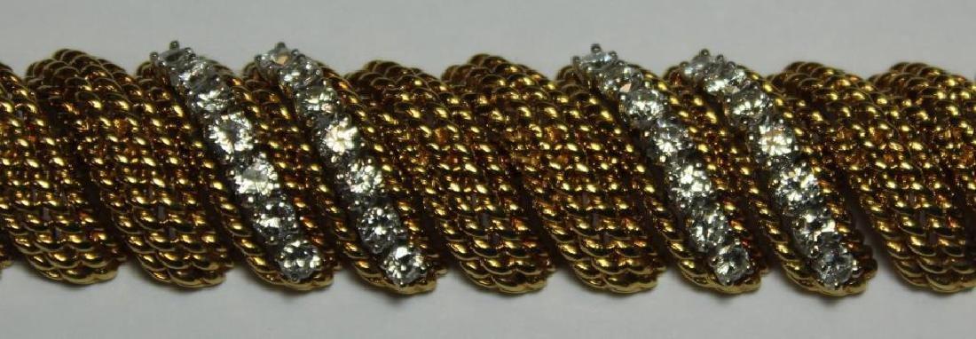 JEWELRY. Signed 18kt Gold and Diamond Bracelet. - 3