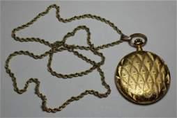 JEWELRY. Swiss 18kt Gold L'Aigon Pocket Watch.
