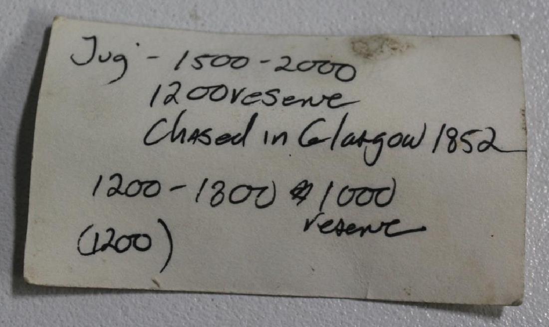 SILVER. Mid 19th C Glasgow Silver Pedestal Pitcher - 9