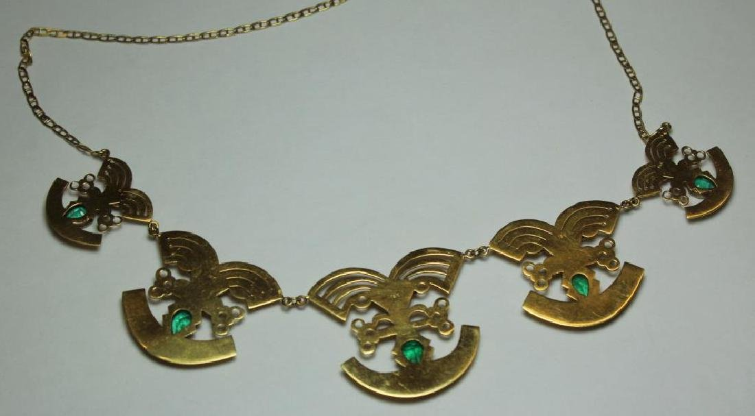 JEWELRY. 18kt Gold and Emerald Necklace. - 5