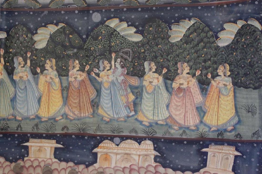 Hand Painted Indian Tapestry on Linen. - 3