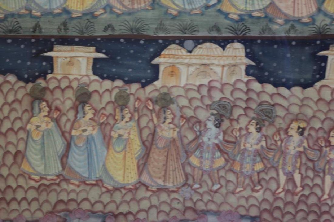 Hand Painted Indian Tapestry on Linen. - 4