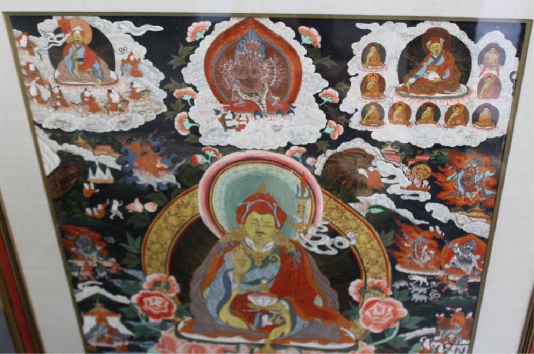 2 Framed Antique South East Asian Thangkas. - 5