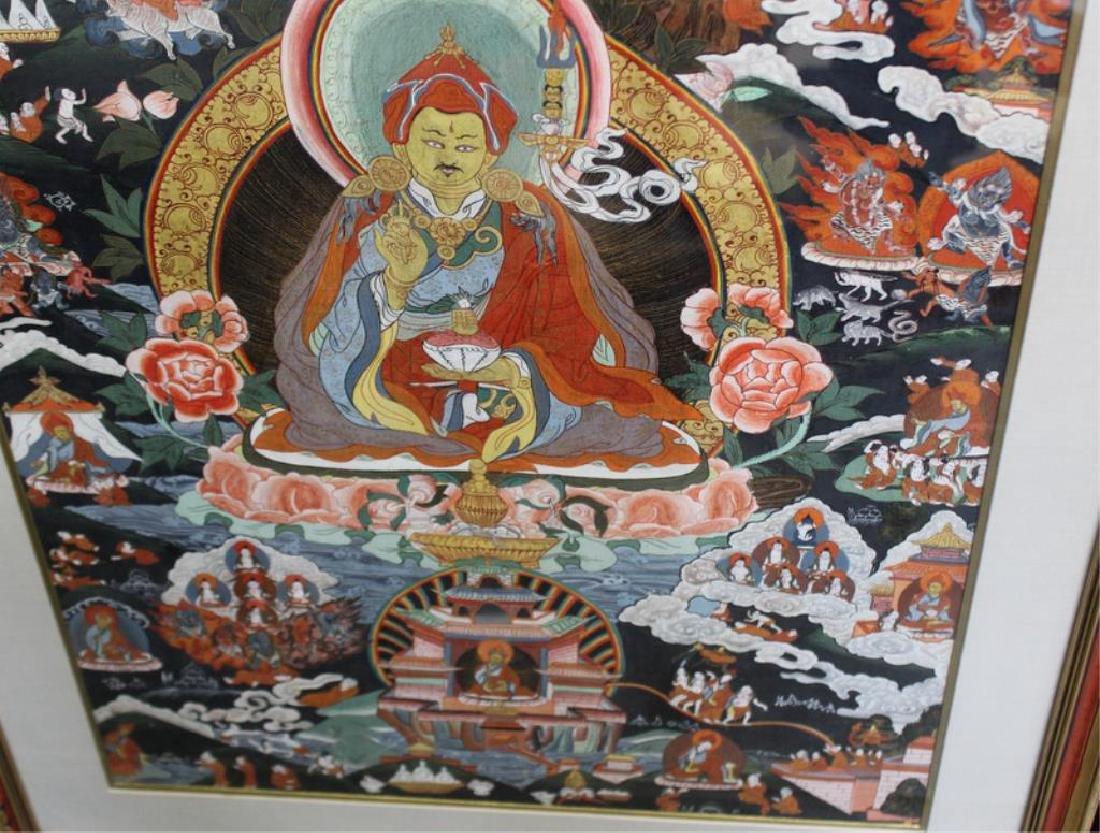2 Framed Antique South East Asian Thangkas. - 6