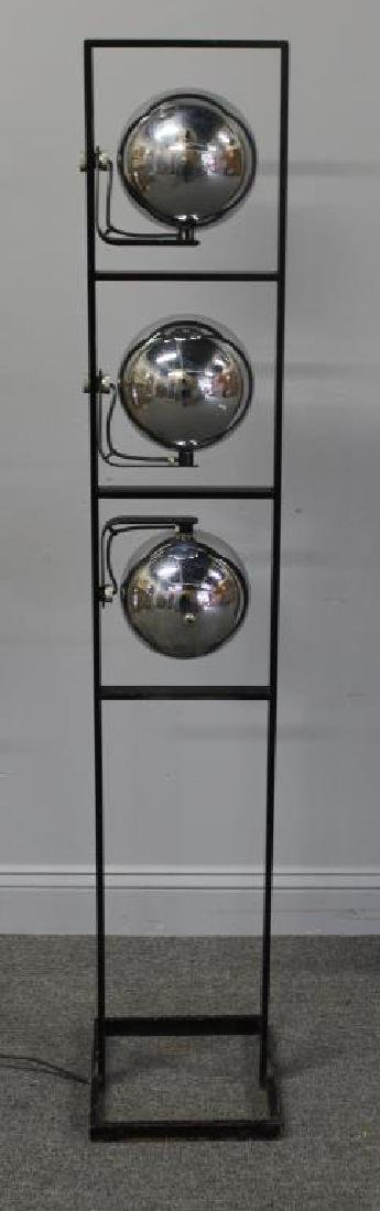 MIDCENTURY. Arteluce Chrome and Steel Standing - 5