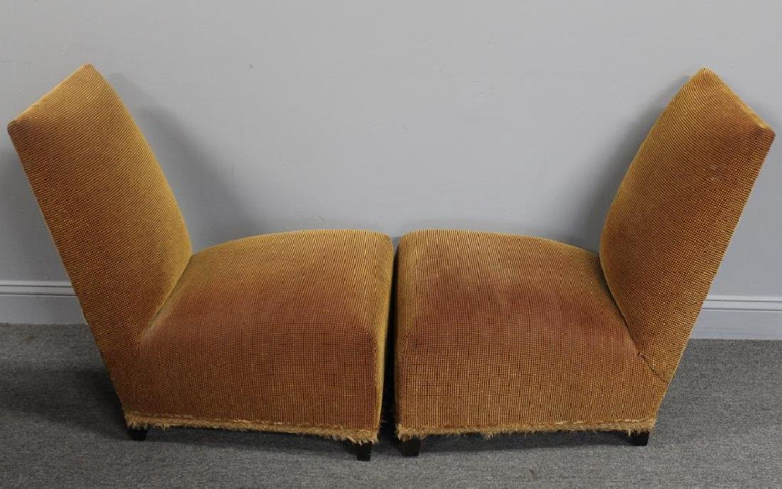 DONGHIA. Signed Pair of Upholstered Slipper - 3