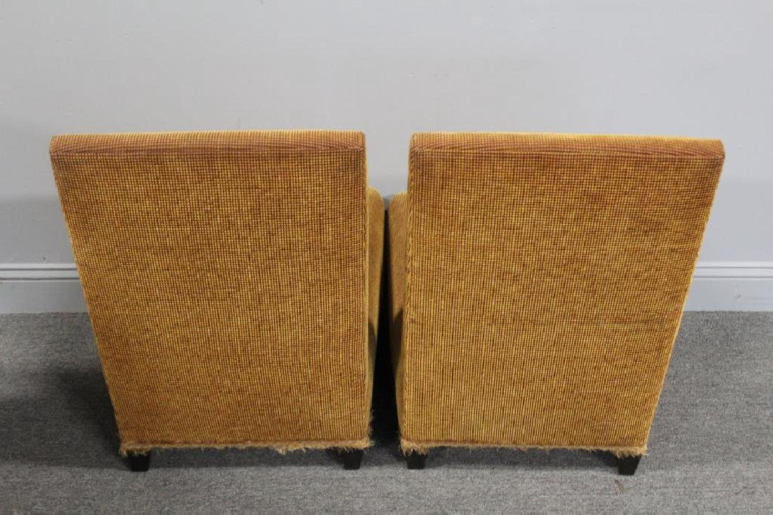 DONGHIA. Signed Pair of Upholstered Slipper - 4