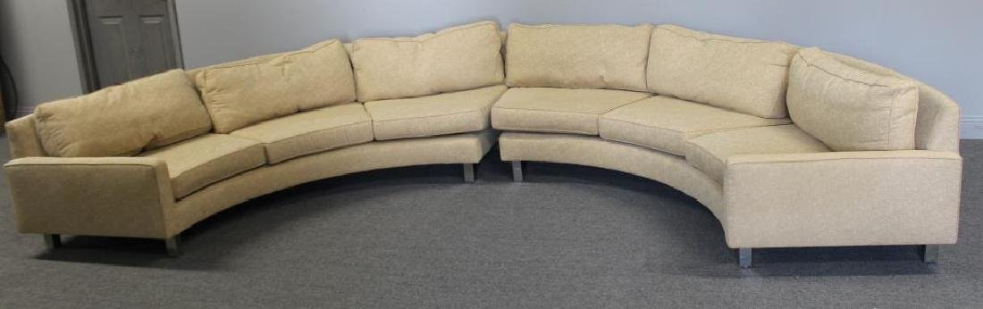 Modernist Upholstered 2 Piece Sectional Sofa.