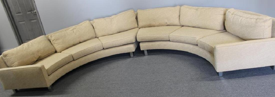 Modernist Upholstered 2 Piece Sectional Sofa. - 2