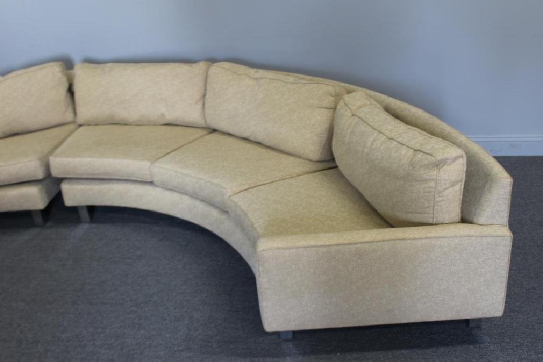 Modernist Upholstered 2 Piece Sectional Sofa. - 3
