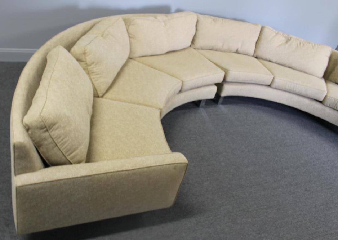 Modernist Upholstered 2 Piece Sectional Sofa. - 4