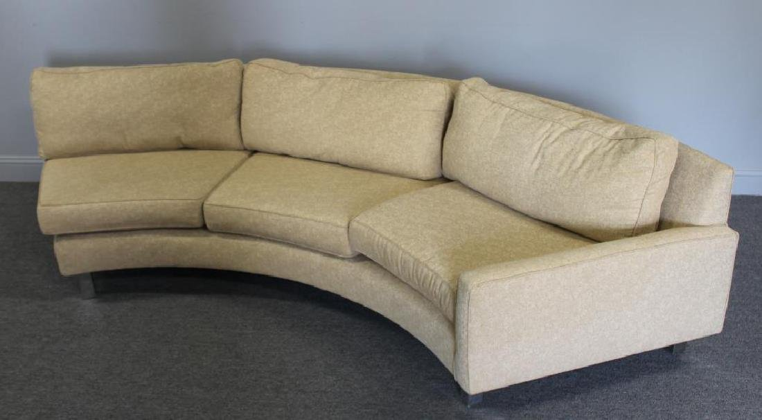 Modernist Upholstered 2 Piece Sectional Sofa. - 6
