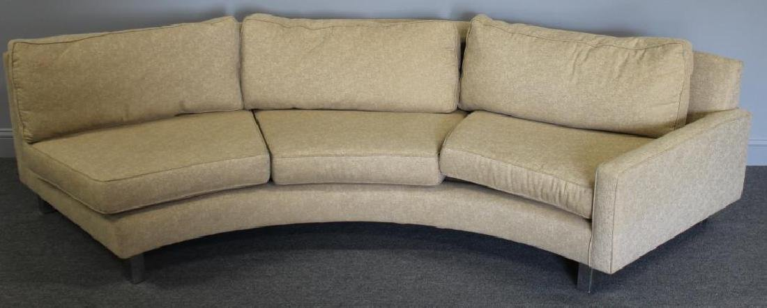Modernist Upholstered 2 Piece Sectional Sofa. - 7